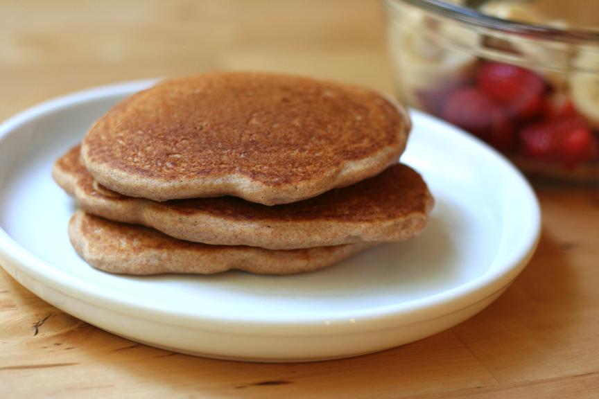 whole wheat apple cinnamon pancakes with cinnamon syrup whole wheat ...