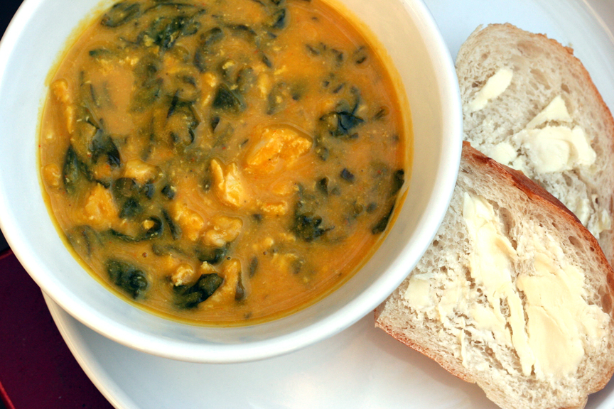 This week for dinner featured recipe curried squash chicken soup it forumfinder Choice Image