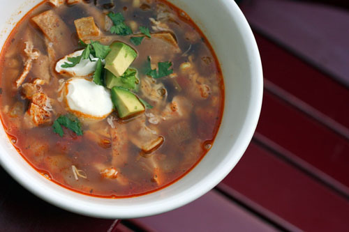 chicken tortilla soup | thisweekfordinner.com