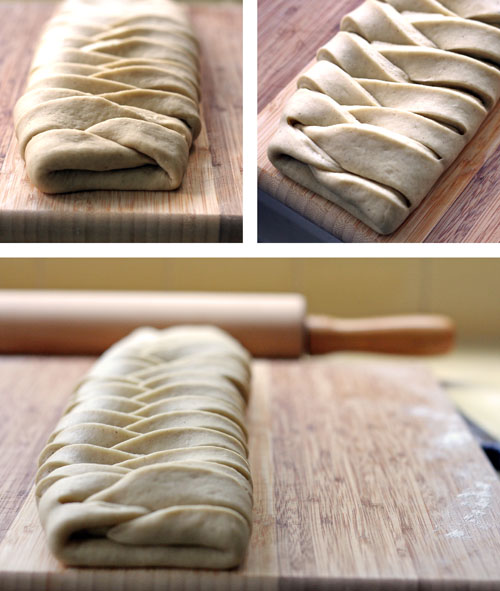 Finished step-by-step photo for creating a braided loaf of bread