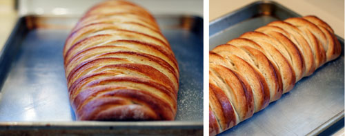 What braided bread should look like coming out of the oven