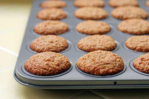 oat bran muffins in tin web