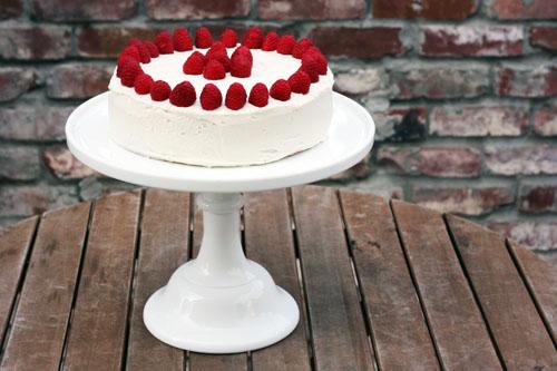 cambria cove milk glass cake stand with cake web