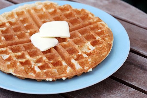 My new favorite waffle recipe, tastes great and comes out perfectly every time