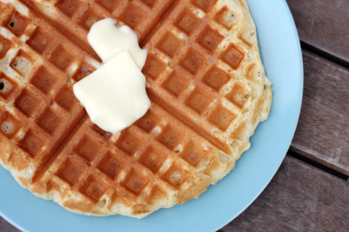 Cook in the waffle iron as you normally cook waffles. Enjoy!