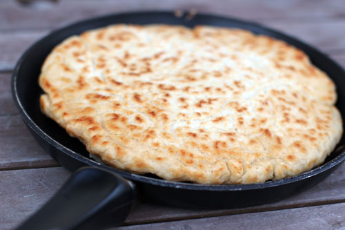 The Cooking Actress: No-Knead Skillet Bread