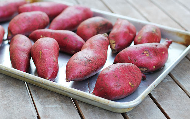 How to prepare Japanese sweet potatoes for roasting from This Week for Dinner