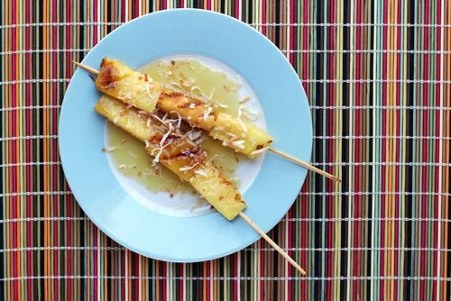 pineapple satay from @janemaynard