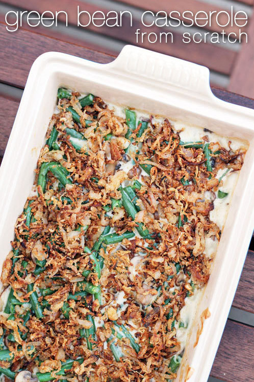 green bean casserole from scratch by @janemaynard from thisweekfordinner.com