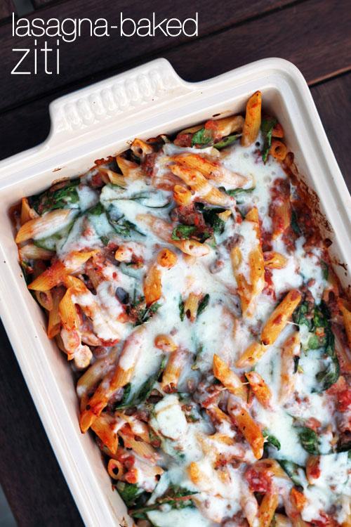 easy and delicious lasagna-baked ziti from @janemaynard