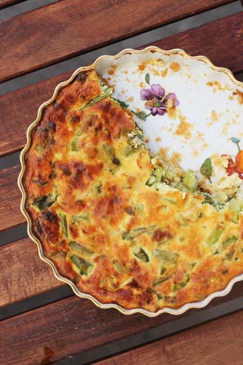 asparagus and spring onion tart from @janemaynard