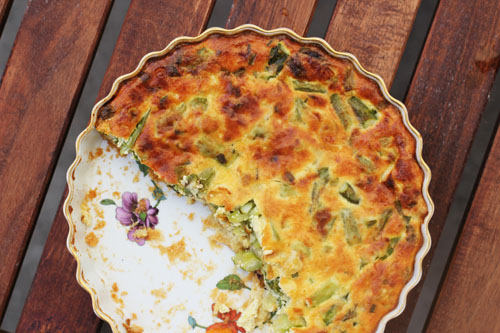 Asparagus and Onion Tart