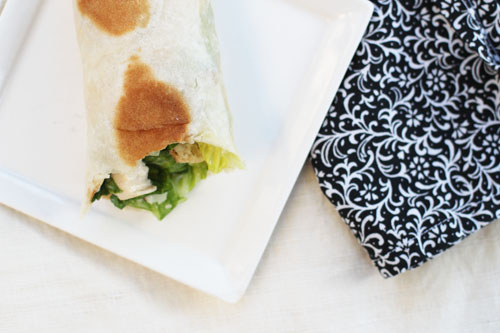 go-to meal chicken caesar wraps | thisweekfordinner.com