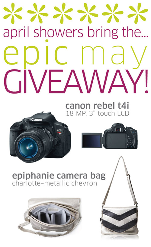 canon slr + epiphanie bag giveaway