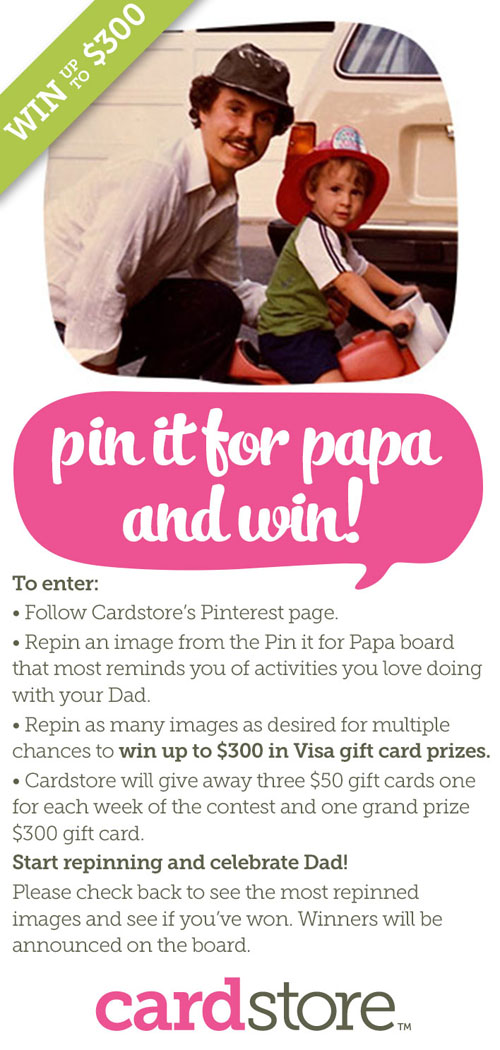 Pin it for Papa Cardstore Pinterest Contest Instructions | #pinitforpapa | thisweekfordinner.com