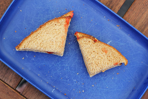 final product | Cutting Half Triangle Sandwiches | thisweekfordinner.com