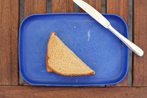 how to cut perfect triangle sandwiches