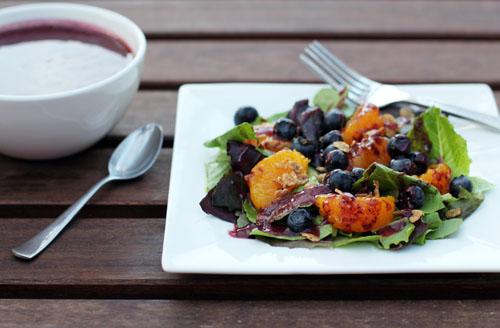 blueberry breakfast salad | thisweekfordinner.com