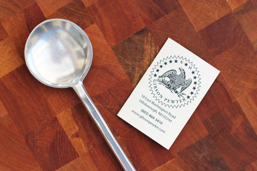 gibson pewter round bowl spoon | thisweekfordinner.com