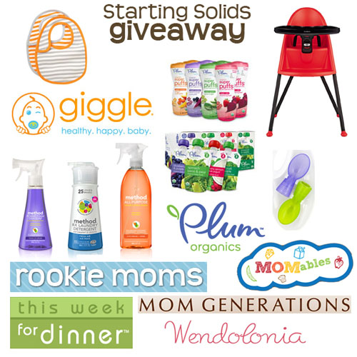 giggle starting solids giveaway | thisweekfordinner.com