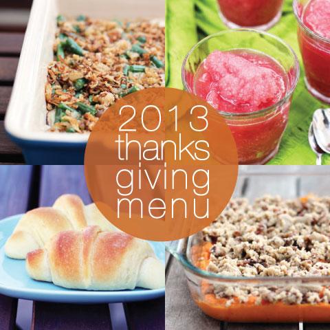 2013 Thanksgiving Menu by @janemaynard at thisweekfordinner.com