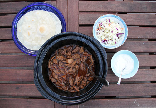 slow cooker sweet korean bbq beef tacos from @janemaynard at thisweekfordinner.com #CampbellSauces