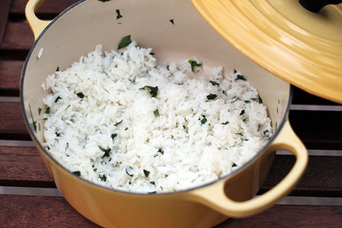 cilantro-lime rice | chipotle knock-off | from @janemaynard at thisweekfordinner.com