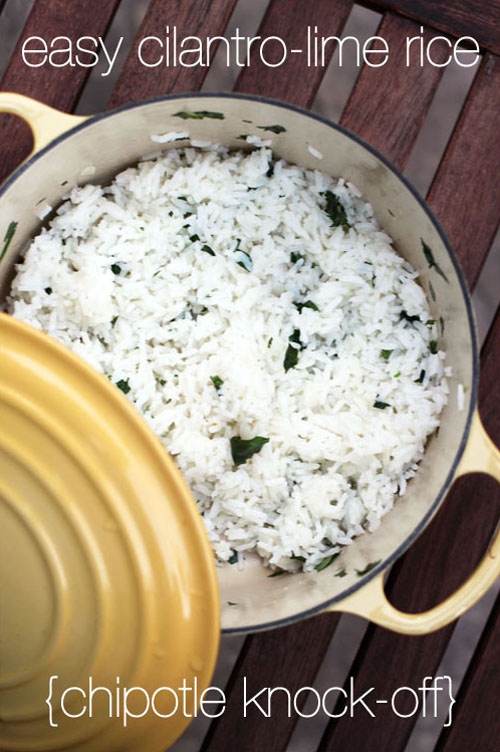 easy cilantro-lime rice | chipotle knock-off | from @janemaynard at thisweekfordinner.com