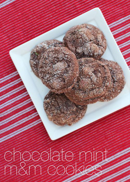chocolate mint m&m cookies from @janemaynard