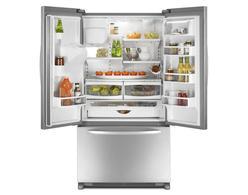 KitchenAid Counter-Depth French Door Refrigerator | Inside View | thisweekfordinner.com