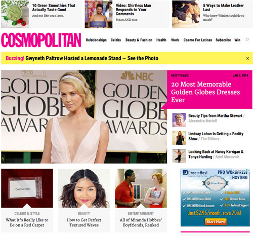 first cosmo post homepage screenshot