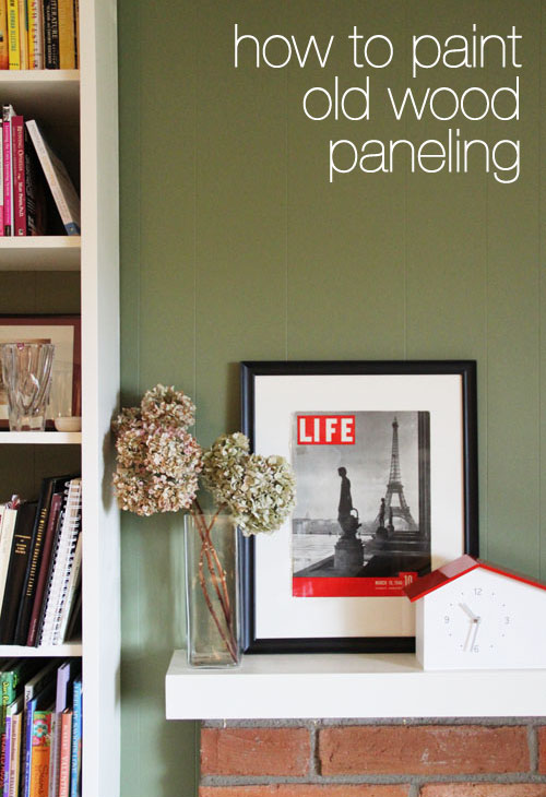 how to paint old wood paneling from @janemaynard