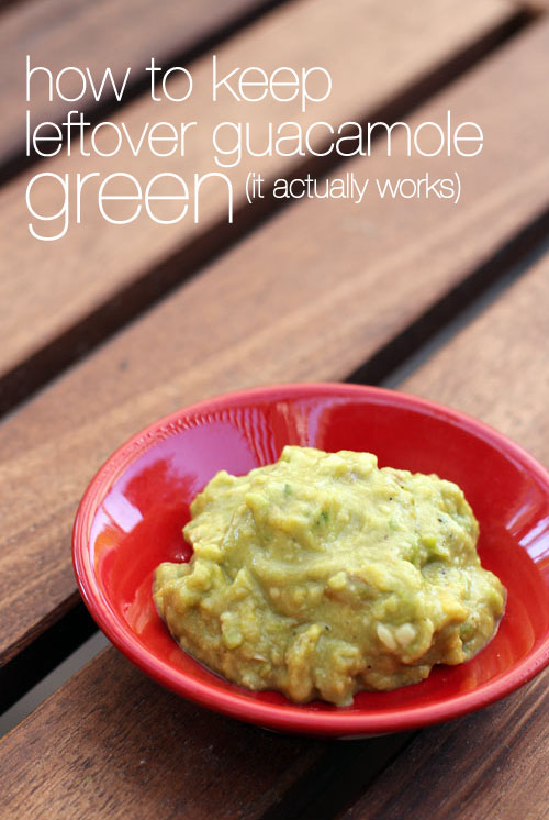 how to keep leftover guacamole green from @janemaynard