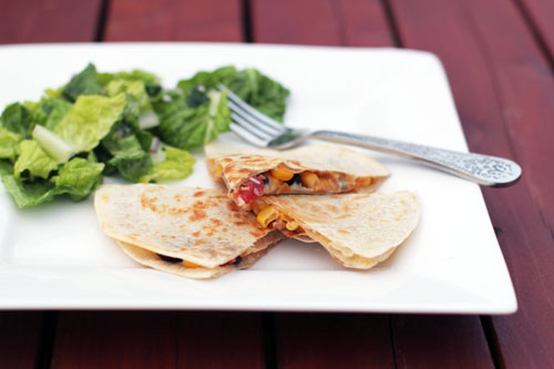 go-to meal: kitchen sink quesadillas from @janemaynard
