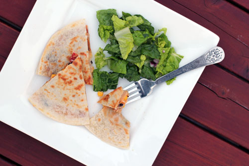 go-to meal: kitchen sink quesadillas from @janemaynard