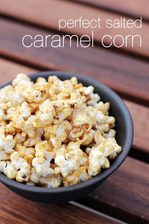 perfect salted caramel corn