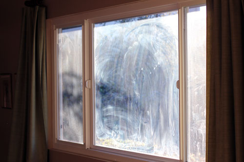 the secret to streak-free window cleaning from @janemaynard {before shot}