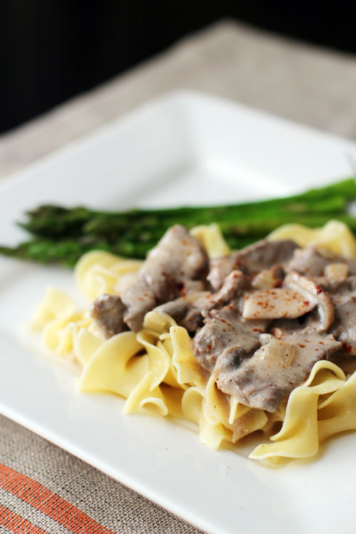 simple and delicious homemade beef stroganoff from @janemaynard