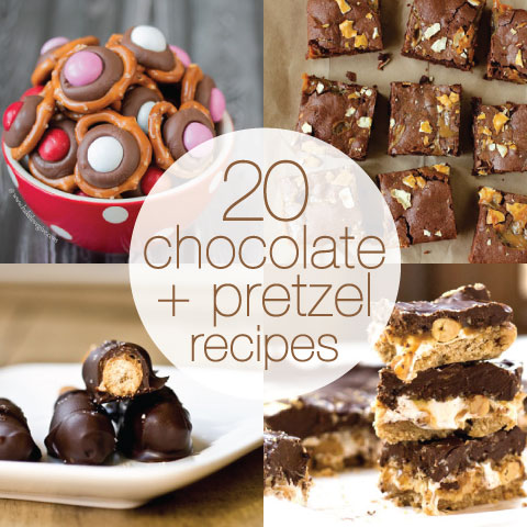 20 chocolate and pretzel recipes from @janemaynard on Babble