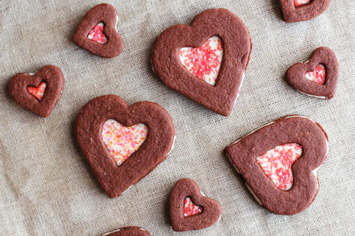 chocolate cream cheese cut-out sandwich cookies from @janemaynard