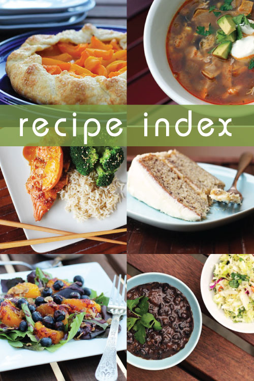 recipe index for this week for dinner from @janemaynard