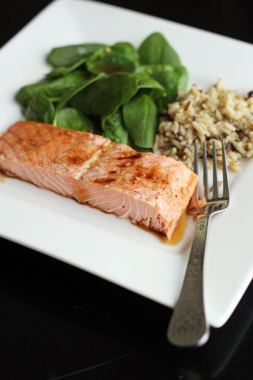maple soy glazed salmon from @janemaynard