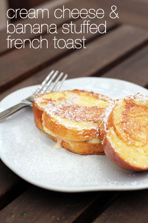 cream cheese and banana stuffed french toast from @janemaynard