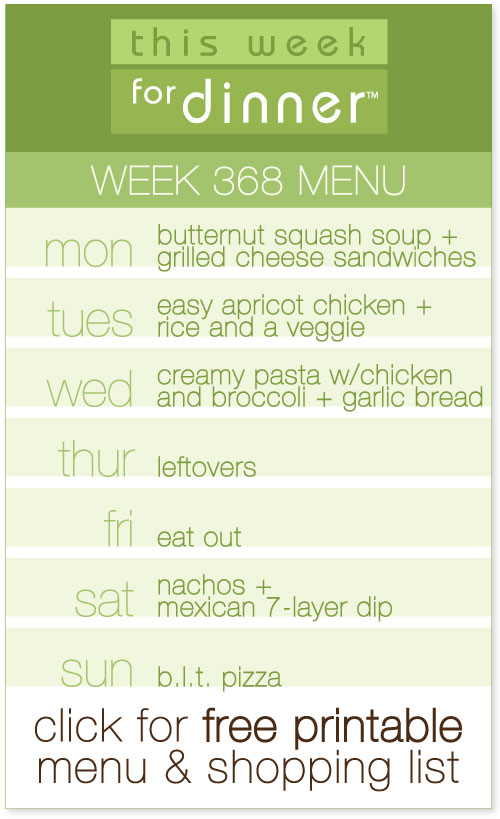 weekly meal plan from @janemaynard