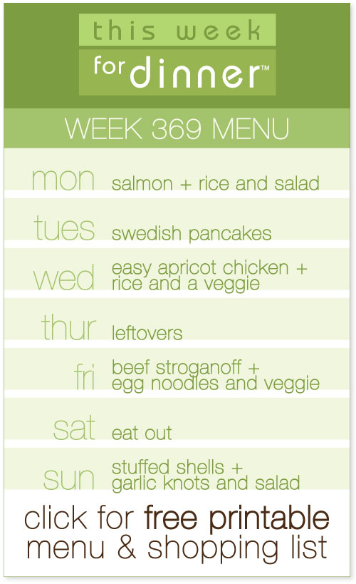 weekly dinner menu plan from @janemaynard, including printable menu and shopping list!