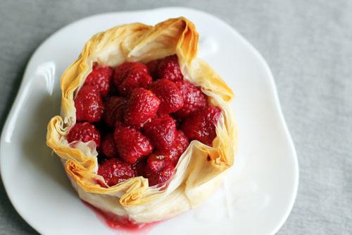 brie phyllo torte with raspberries from @janemaynard