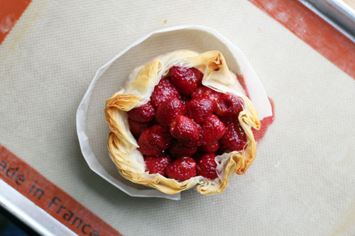 brie phyllo torte with raspberries from @janemaynard