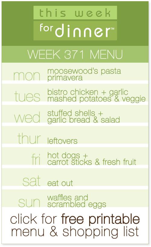 weekly dinner menu from @janemaynard including free printable menu and shopping list