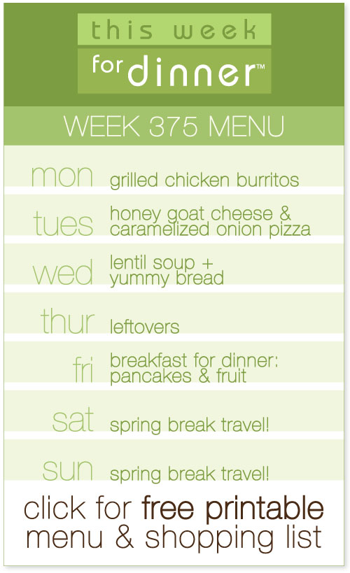 weekly meal plan from @janemaynard including FREE printable and shopping list