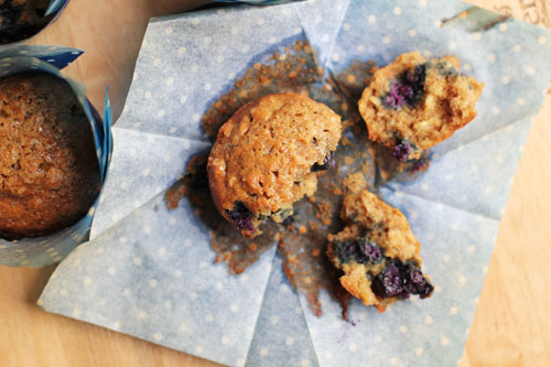 whole wheat blueberry muffins from @janemaynard